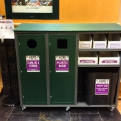 """The """"Weird Recycling Center"""" is a station in the Popp-Martin Student Union where our campus community can bring less commonly recycled items to be recycled"""
